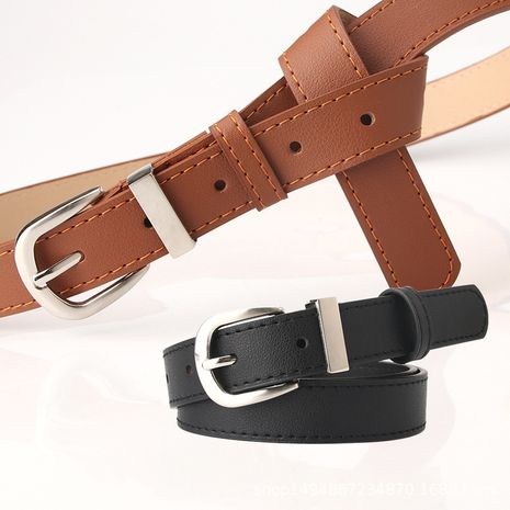 ladies belt new simple wild decorative belt Korean fashion trousers clothing matching belt wholesale nihaojewelry NHJN230749's discount tags