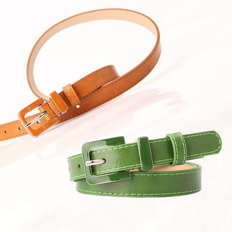 new women's belt creative oil drop alloy buckle dress decorative belt with baby pants wholesale nihaojewelry NHJN230754's discount tags