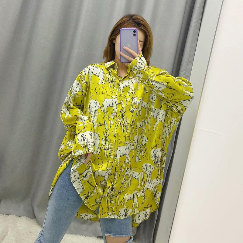 Wholesale Spring XL Printed Blouse NHAM200179