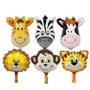 Aluminum film cartoon balloon animal head lion cow giraffe tiger monkey cartoon balloon wholesale nihaojewerly NHSG233318's discount tags