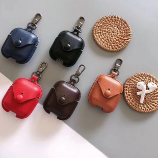 Airpods Pro 3 generación simple moda color sólido cuero inalámbrico Bluetooth auriculares venta al por mayor nihaojewelry NHFI233322's discount tags