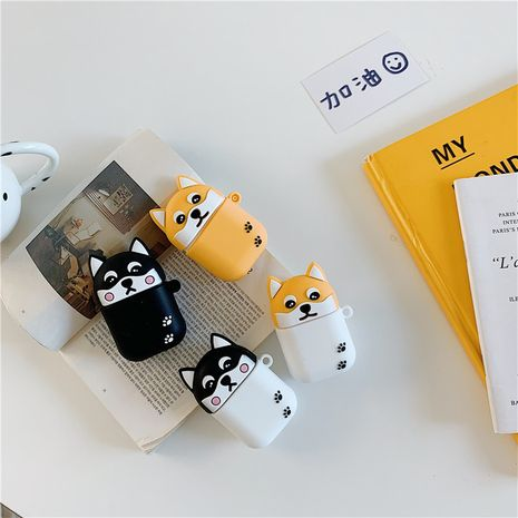 Cute Shiba Inu silicone protective cover for AirPods2 wholesale nihaojewelry NHFI233324's discount tags