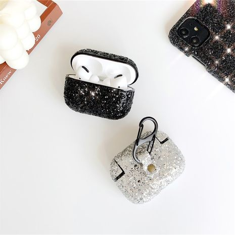 Sparkling rhinestone hard shell AirPods pro 3 wireless Bluetooth headset protective sleeve creative color diamond anti-fall 2 wholesale nihaojewelry NHFI233327's discount tags