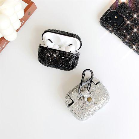 Strass mousseux coque rigide AirPods pro 3 casque sans fil Bluetooth manchon de protection couleur créative diamant anti-chute 2 en gros nihaojewelry NHFI233327's discount tags