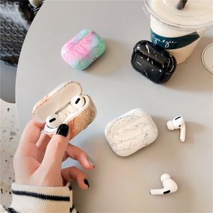 Nordic style marble hard shell for Apple AirPods2 wireless Bluetooth headset wholesale nihaojewelry NHFI233330's discount tags