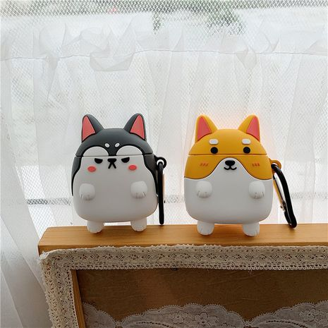 Cute Corgi silicone protective cover for Apple AirPods1/2 generation universal wireless Bluetooth headset wholesale nihaojewelry NHFI233331's discount tags
