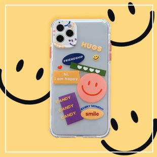 Han Feng jigsaw smiley mobile phone shell for iPhone 8plus/se/xs transparent soft shell wholesale nihaojewelry NHFI233342's discount tags