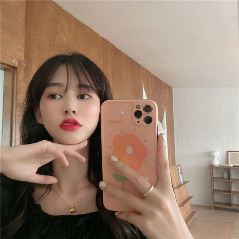 oil painting flower mobile phonecase suitable for iPhone11Promax/se2/8plus soft shell wholesale nihaojewelry NHFI233347's discount tags
