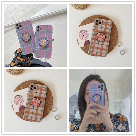 Korean style Charlie bracket shell suitable for iPhone11pro/XR/se2/Huawei p40 wholesale nihaojewelry NHFI233352's discount tags