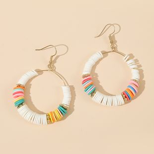 fashion new  handmade beaded color soft ceramic earrings  trend personality simple geometric earrings nihaojewelry wholesale  NHLA233372's discount tags