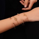 creative new jewelry set leaves diamond knotted opening bracelet fourpiece suit hot jewelry wholesale nihaojewelry NHDP233405