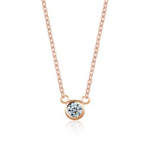large zircon single diamond necklace clavicle chain accessories new wholesale nihaojewelry NHDP233415's discount tags