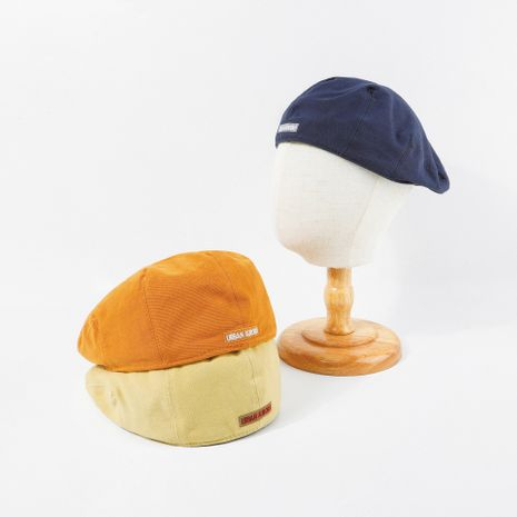 hat blue beret letter retro navy wear hat summer wholesale nihaojewerly NHTQ233439's discount tags