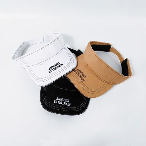 Cap verano protector solar blanco corriendo vacío top hat bordado letra gorra de béisbol al por mayor nihaojewerly NHTQ233440's discount tags