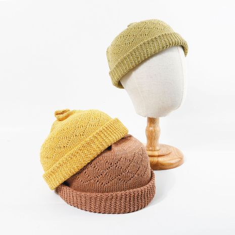Hollow knitted hat summer thin section Korean melon leather hat cute tweeted breathable hat wholesale nihaojewerly NHTQ233442's discount tags