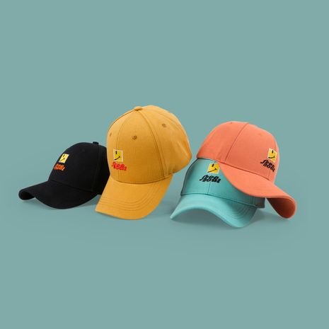 Smiley baseball cap Korean cap couple outdoor leisure sun hat wholesale nihaojewerly NHTQ233447's discount tags