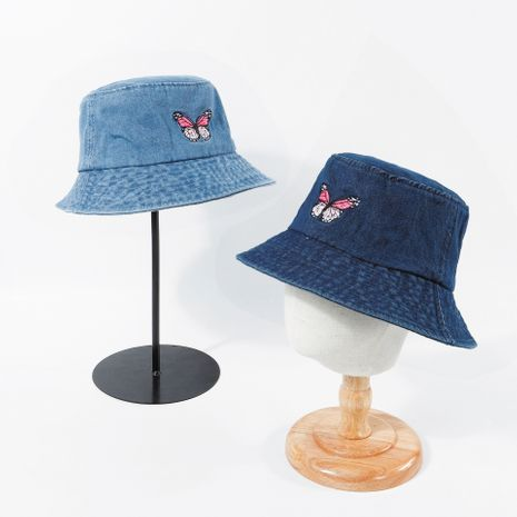short brim embroidery fisherman hat cowboy Korean brand shading sunscreen summer wholesale nihaojewerly NHTQ233446's discount tags
