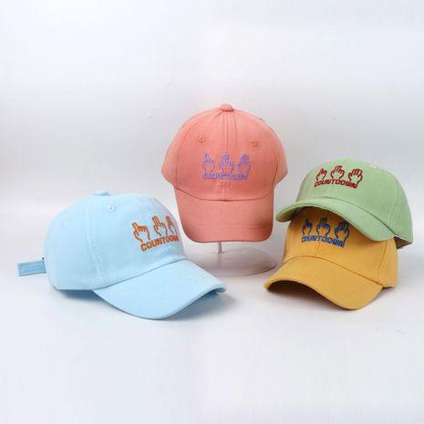 Sun hat children hat Korean embroidery baseball cap manufacturers custom children's hat girls hat  NHTQ233452's discount tags