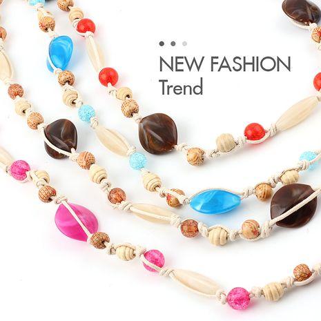 verano nueva venta caliente concha decorada cintura cuerda señoras todo fósforo vestido diverso cadena de la cintura al por mayor nihaojewelry NHPO233489's discount tags