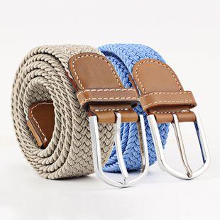 Monochrome series canvas belt unisex elastic belt four seasons pants belt wholesale nihaojewelry NHPO233491's discount tags
