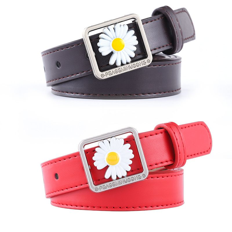 new daisy concave shape Korean fashion wild jeans belt ladies trend belt wholesale nihaojewelry NHPO233496