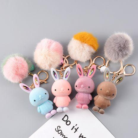 Automne et hiver nouvelle année de rat flocage mignon lapin souris boule de fourrure clé boucle en gros nihaojewerly NHCB233505's discount tags