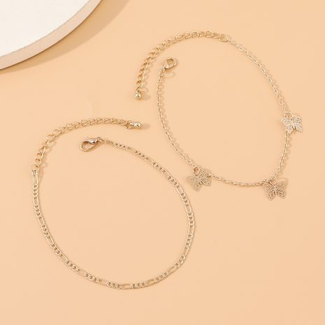 korean fashion new  creative wild personality  trendy  small butterfly anklet suit nihaojewelry wholesale  NHPS233535's discount tags