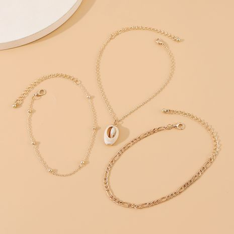 fashion new  wild personality creative shell anklet suit nihaojewelry wholesale  NHPS233538's discount tags