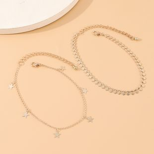 Korean  creative fashion personality wild small five-star anklet suit nihaojewelry wholesale  NHPS233541's discount tags