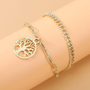 Korean  fashion new simple style personality double anklet nihaojewelry wholesale  NHPS233545's discount tags