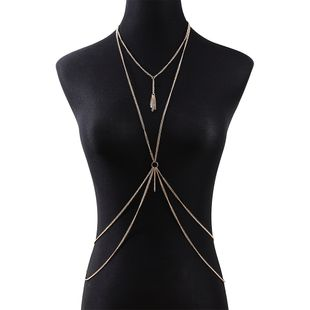 korean simple new hot sale  fashion wild trendy  personality temperament body chain nihaojewelry wholesale  NHPS233549's discount tags