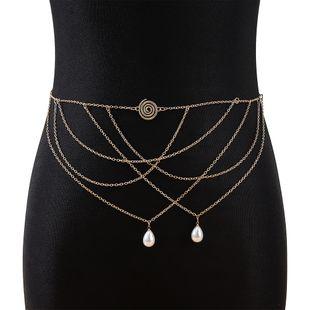 Korean  retro personality  new fashion  pearl waist chain nihaojewelry wholesale  NHPS233550's discount tags