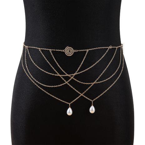 Corée rétro personnalité nouvelle mode perle chaîne de taille nihaojewelry gros NHPS233550's discount tags