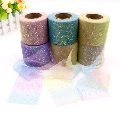 6CM Korean silver dot gradient rainbow 25 yard DIY bow accessories wholesale nihaojewelry NHUY233576's discount tags
