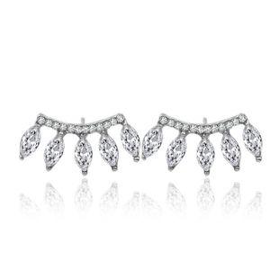 Korean  new  fashion   rhinestone earrings diamond five crystal earrings  nihaojewelry wholesale  NHDP233413's discount tags