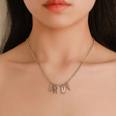 fashion Korean men and women letters clavicle chain neck chain wholesale nihaojewelry NHDP233404's discount tags