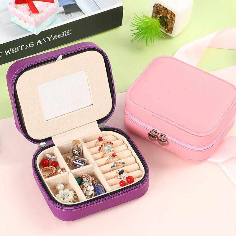 jewelry box trumpet portable Korean simple jewelry storage box double-layer jewelry box wholesale nihaojewelry NHHO233522