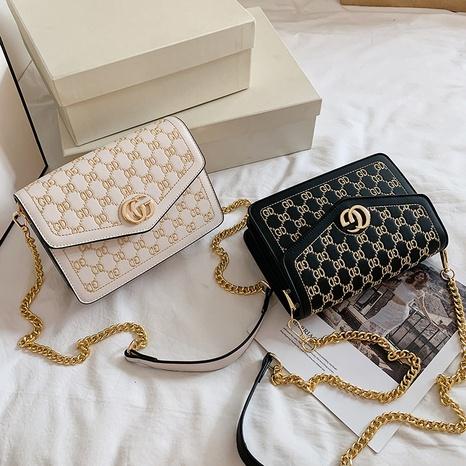 nueva bolsa de verano bolso de cadena de carta de moda mensajero de hombro retro pequeño bolso cuadrado al por mayor nihaojewelry NHGA233678's discount tags