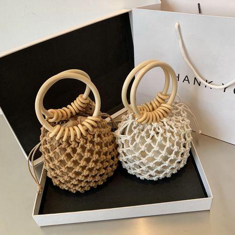 Coréen coton corde tissé sac été nouveau sac sac à main cordon cordon sac de plage en gros nihaojewelry NHGA233712's discount tags