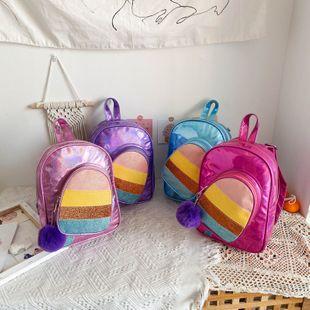 Nuevo verano contraste color mochila kindergarten mochila moda bolso al por mayor nihaojewelry NHPB233762's discount tags