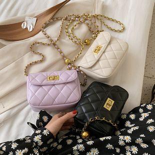 Nuevo verano coreano pequeño fragante rombo transferencia cadena de cuentas de bloqueo solo hombro messenger bag cuadrado al por mayor nihaojewelry NHPB233828's discount tags