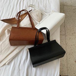 textura moda lagarto patrón bolso nuevo verano gran capacidad color sólido hombro axila bolsa venta al por mayor nihaojewelry NHPB233838's discount tags