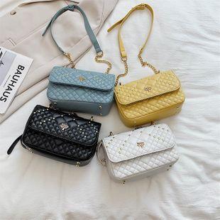Nueva moda de verano rombo cadena messenger bag remache hombro pequeño bolso cuadrado al por mayor nihaojewelry NHPB233847's discount tags