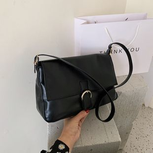 Nuevo verano retro sólido solo hombro bolso bolso francés gran capacidad oblicua cruz bolso al por mayor nihaojewelry NHPB233848's discount tags