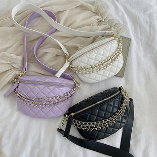 Nuevo verano pequeño rombo fragante cadena de moda bolso de pecho bolso de cintura color sólido hombro bolsa de mensajero al por mayor nihaojewelry NHPB233851's discount tags