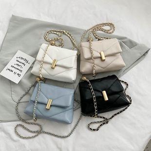 Nuevo verano coreano pequeño bolso de crossbody de diamantes fragantes casual cadena hombro pequeño bolso cuadrado al por mayor nihaojewelry NHPB233853's discount tags
