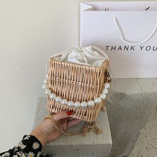 Bolso francés new wave bolso tejido cadena de moda messenger one hombro bolsa de paja al por mayor nihaojewelry NHJZ233860's discount tags