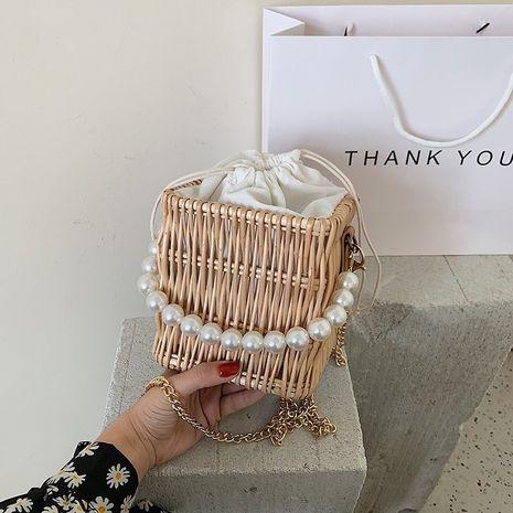 Sac français nouvelle vague tissé sac chaîne de mode messager une épaule sac de paille en gros nihaojewelry NHJZ233860's discount tags