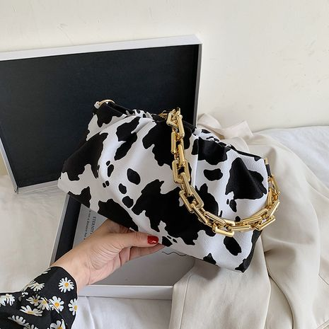 ladies small bag summer new trendy fashion shoulder cloud bag chain armpit bag wholesale nihaojewelry NHJZ233863's discount tags