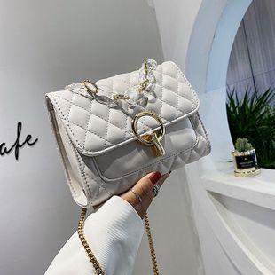 Nuevo bolso pequeño nuevo enrejado de moda pequeño bolso de cadena fragante oblicuo pequeño bolso cuadrado bolso de hombro al por mayor nihaojewelry NHJZ233868's discount tags